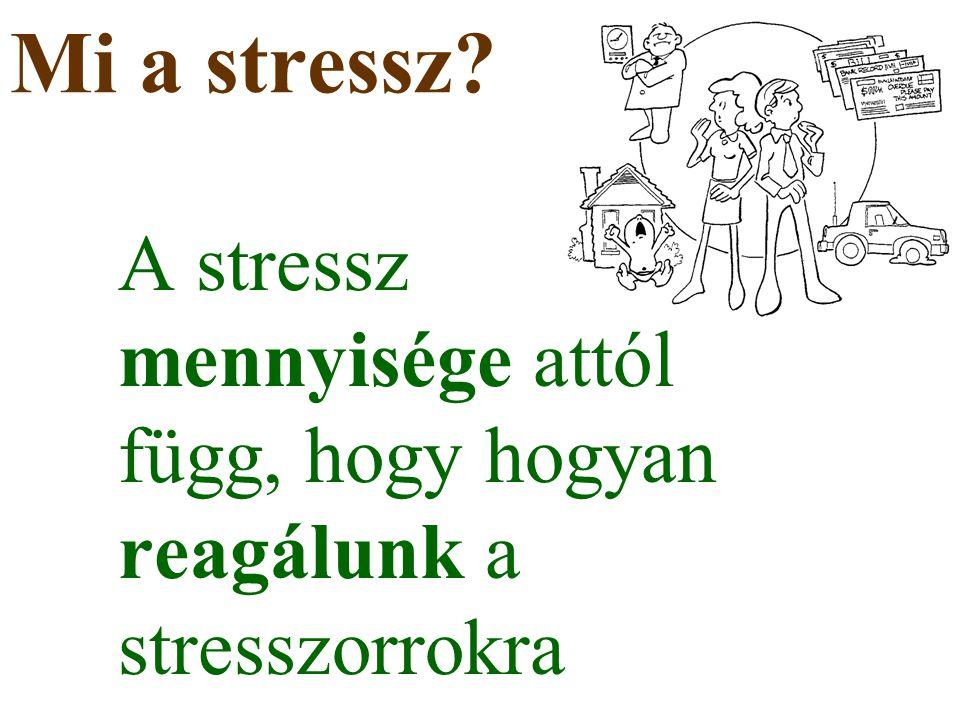 Mi a stressz? A stressz mennyisége attól függ, hogy hogyan reagálunk a stresszorrokra