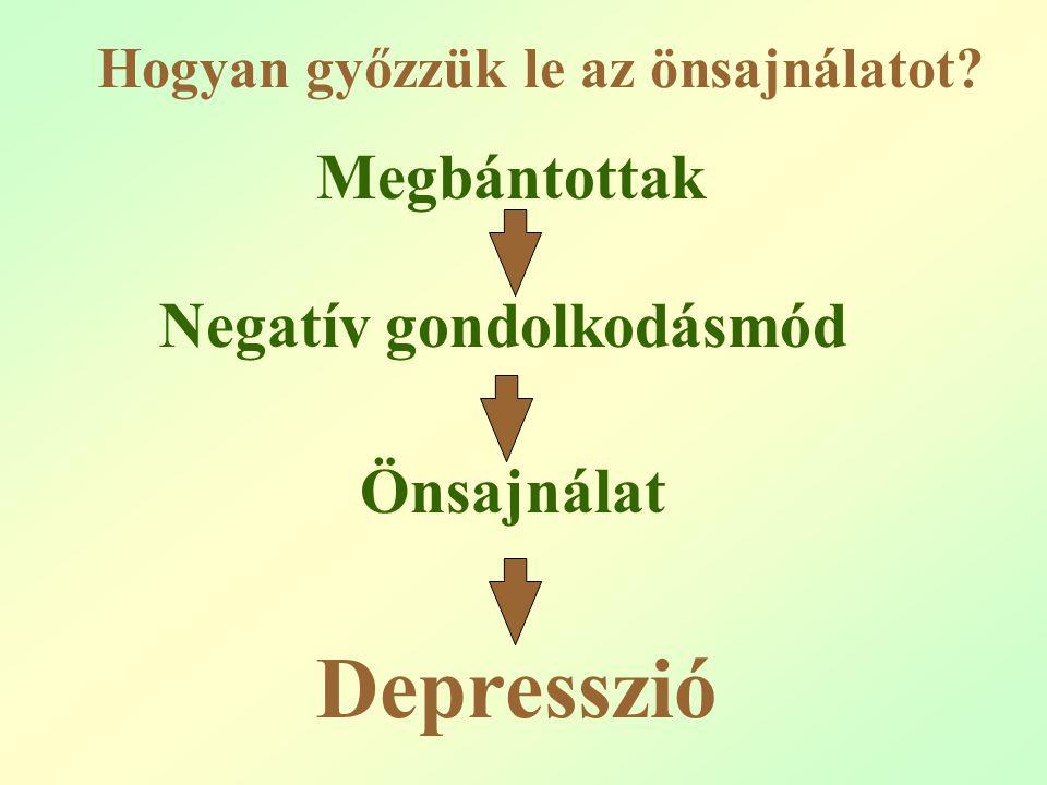 Megbántottak Negatív gondolkodásmód Önsajnálat Depresszió