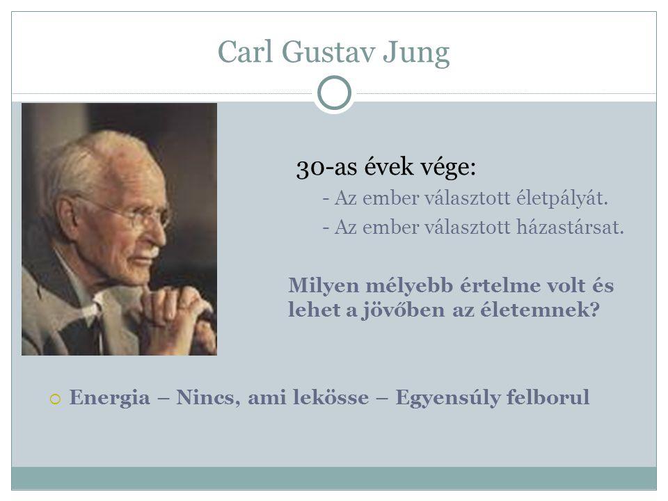 Carl Gustav Jung 30-as évek vége:  - Az ember választott életpályát.  - Az ember választott házastársat.  Milyen mélyebb értelme volt és lehet a jö