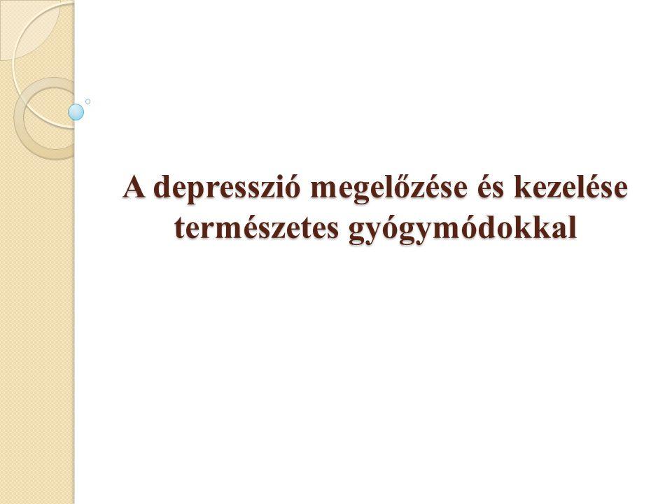 A depresszió előfordulása hazánkban  A legtöbb kárt okozó betegségek listáján a 3.