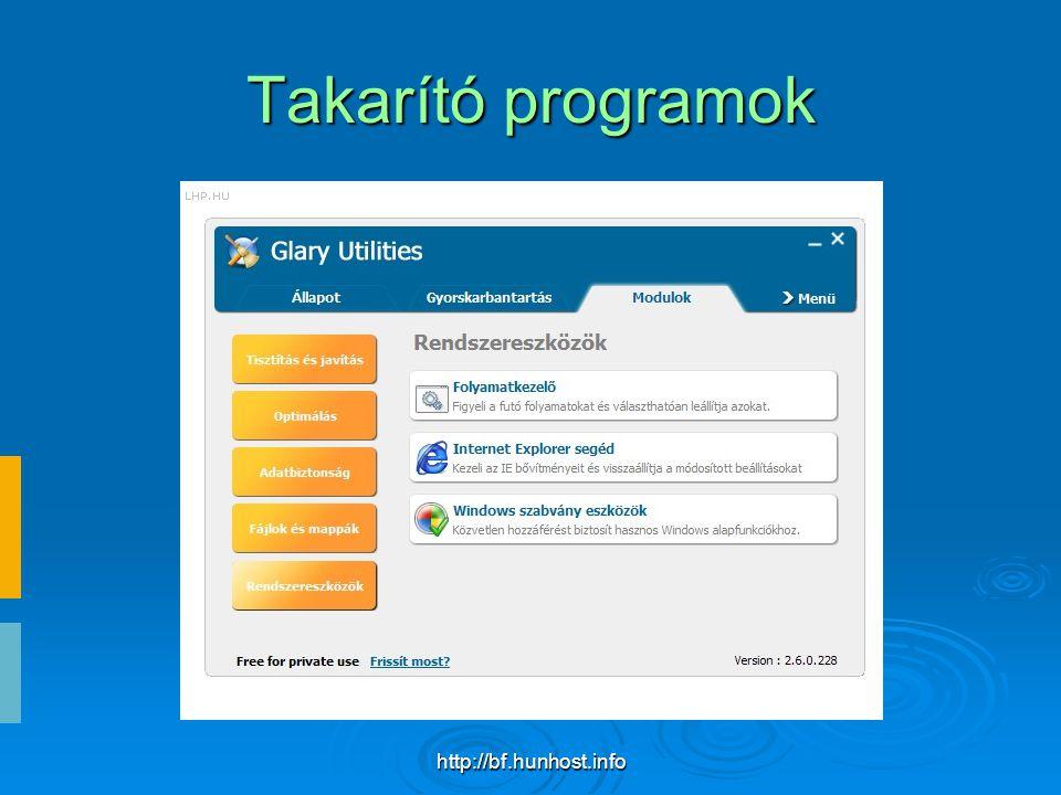 http://bf.hunhost.info Takarító programok