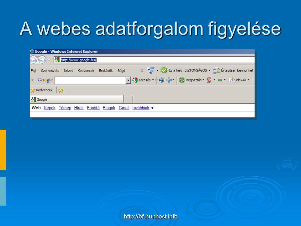 http://bf.hunhost.info A webes adatforgalom figyelése