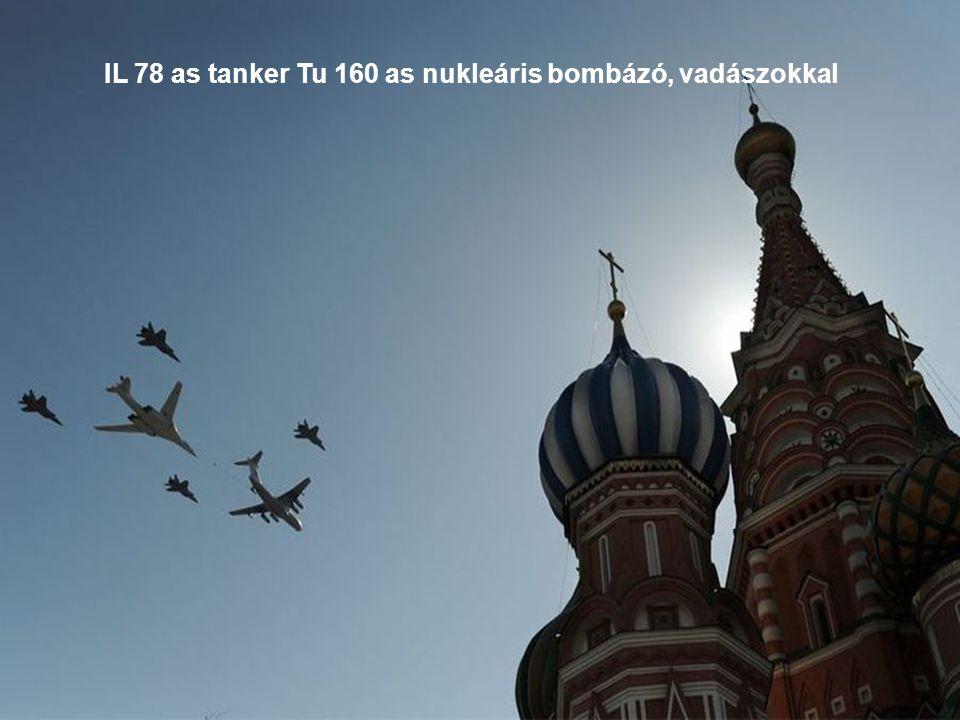 IL 78 as Tanker Tu 95 ös nukleáris bombázó vadászokkal