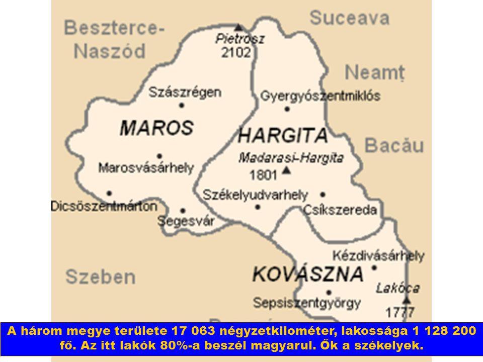 Székelyföld Románia közepén fekszik. Három megyéből áll: Marosból, Hargitából és Kovásznából.
