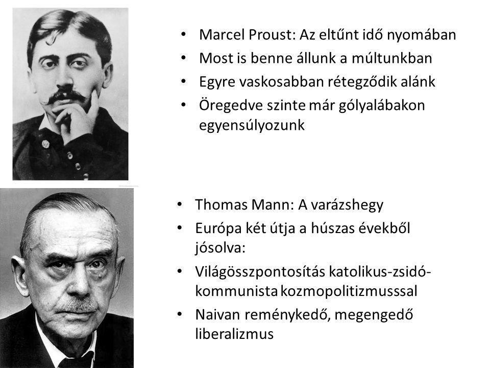 Marcel Proust: Az eltűnt idő nyomában Most is benne állunk a múltunkban Egyre vaskosabban rétegződik alánk Öregedve szinte már gólyalábakon egyensúlyo