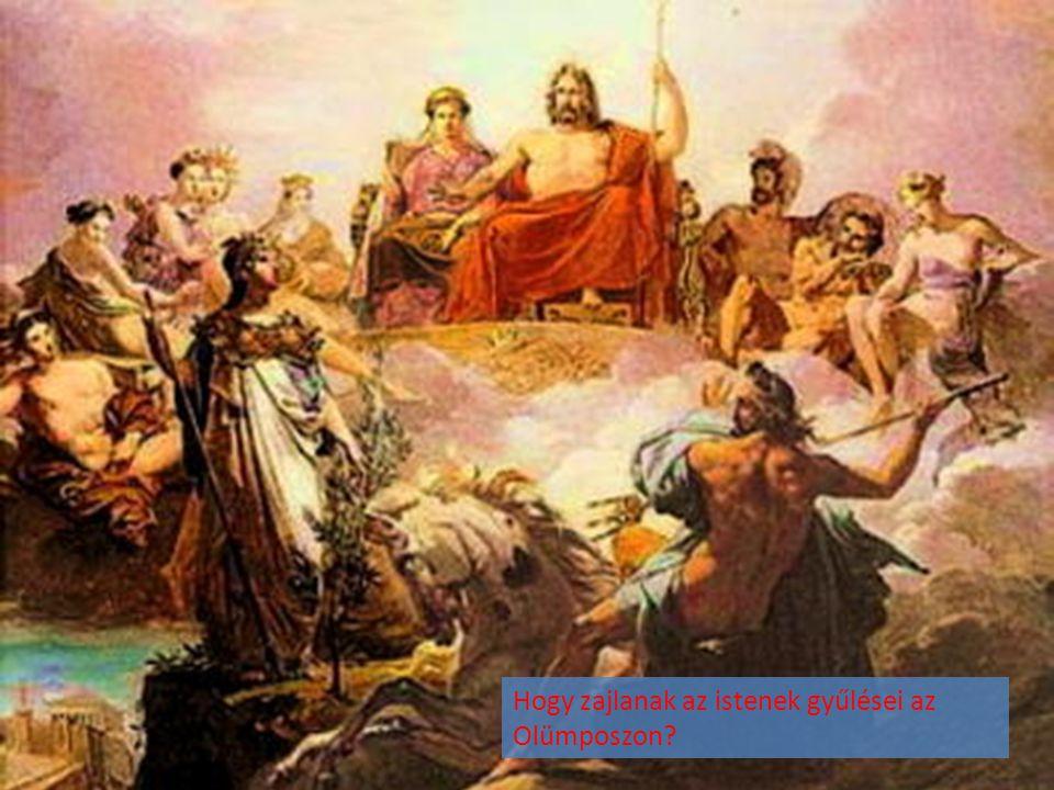 Hogy zajlanak az istenek gyűlései az Olümposzon?