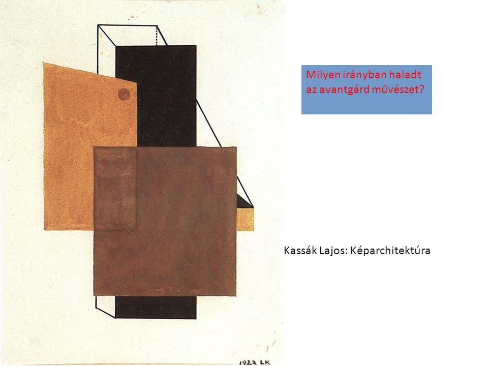Kassák Lajos: Képarchitektúra Milyen irányban haladt az avantgárd művészet?