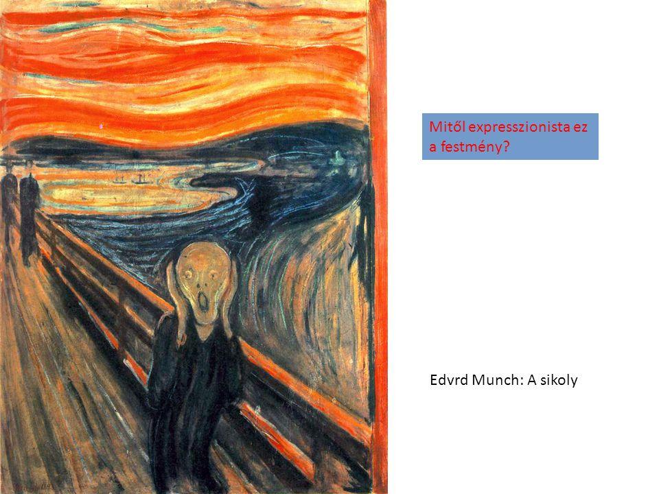 Oskar Kokoschka plakátja Milyen jellegzetességei vannak az expresszionista stílusnak?