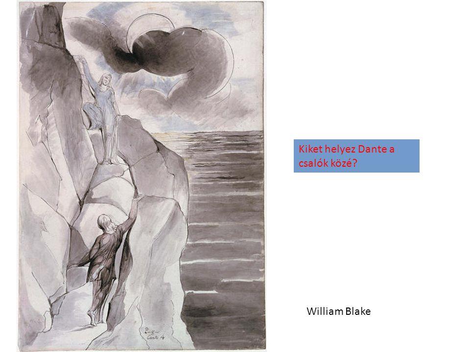 William Blake Kiket helyez Dante a csalók közé?