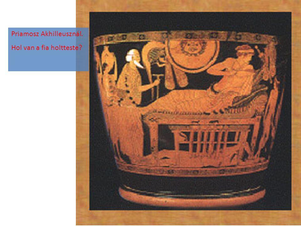 Priamosz Akhilleusznál. Hol van a fia holtteste?