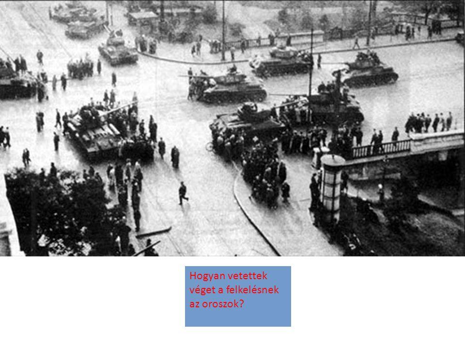 Hogyan vetettek véget a felkelésnek az oroszok?