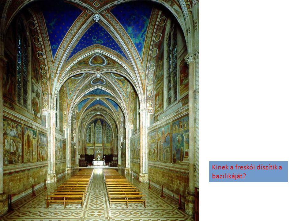 Kinek a freskói díszítik a bazilikáját?