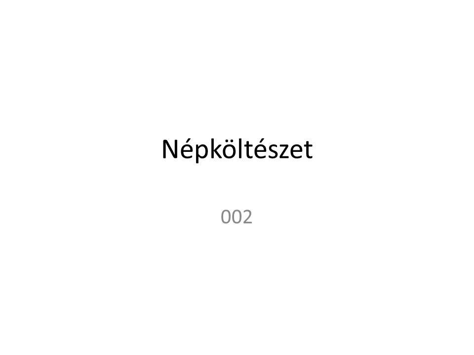 Népköltészet 002