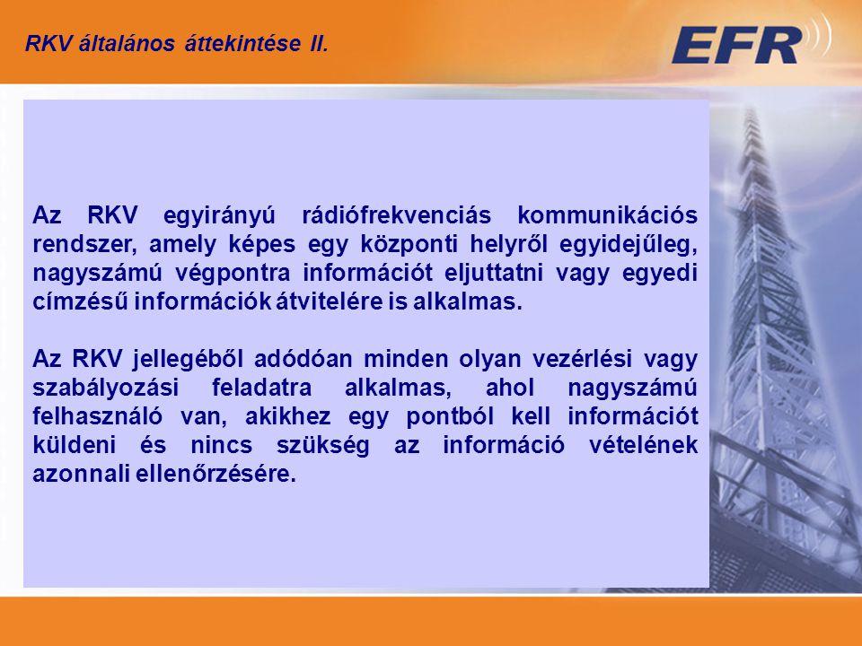RKV általános áttekintése II.
