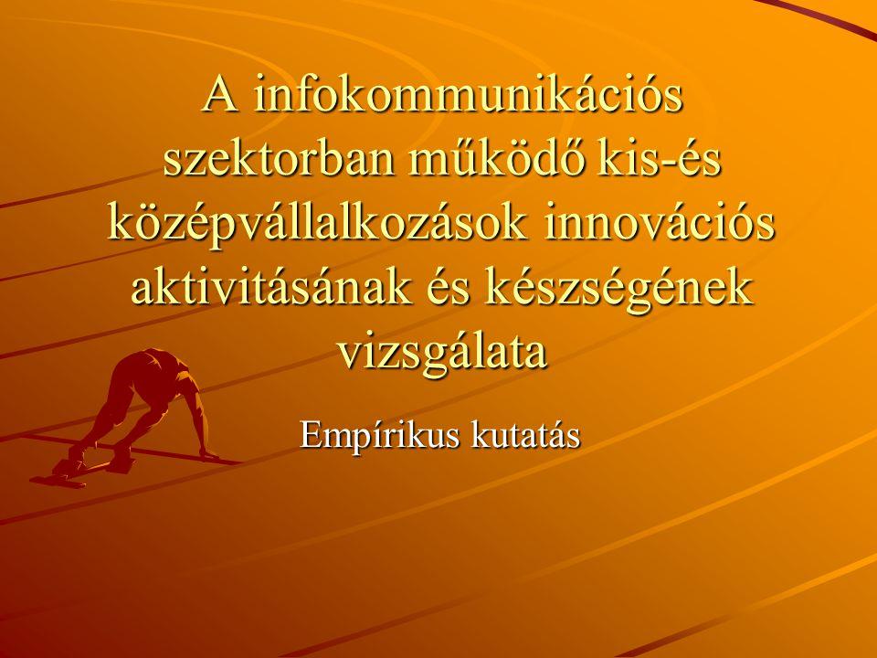 A infokommunikációs szektorban működő kis-és középvállalkozások innovációs aktivitásának és készségének vizsgálata Empírikus kutatás