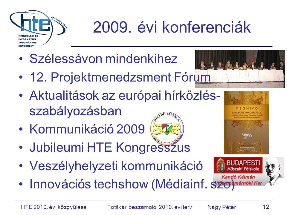 12. 2009. évi konferenciák Szélessávon mindenkihez 12.