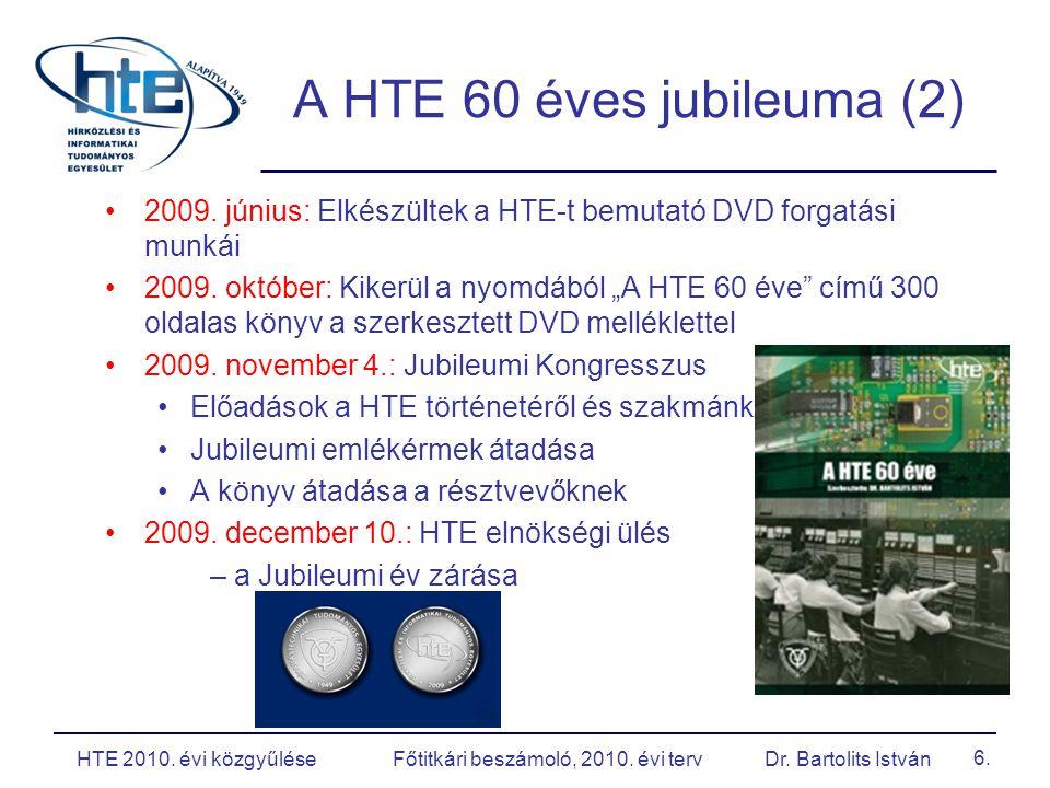 17. Gazdálkodás - HT szaklap HTE 2010. évi közgyűlése Főtitkári beszámoló, 2010. évi terv