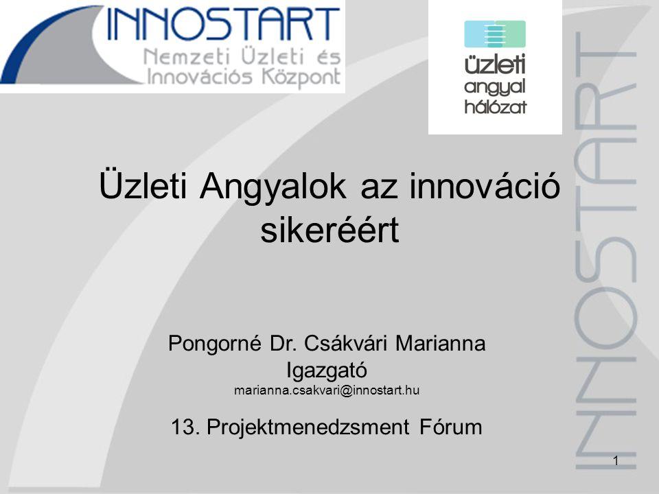 12 Magyarországi helyzetkép Finanszírozási rés a korai fázisú innovatív projektek, vállalkozások tőkepiacán Üzleti és szabályozási környezet instabil Túlzott adminisztrációs teher KKV-k tőkeellátottsága, hitelképessége gyenge Hiányzó korai fázisú intézményi kockázati tőke Alacsony fokú vállalkozói kultúra, bizalmatlanság Pozitív kezdeményezések (START Tőkegarancia Zrt., JEREMIE program, Első Magyar Üzleti Angyal Hálózat)