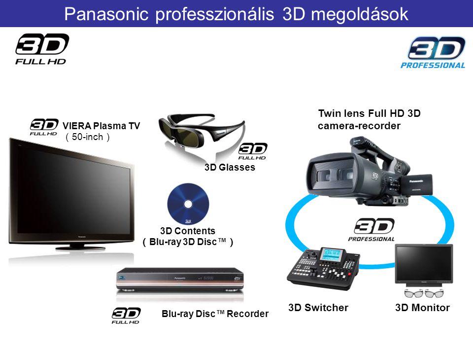 VIERA Plasma TV ( 50-inch ) 3D Glasses 3D Contents ( Blu-ray 3D Disc™ ) Blu-ray Disc™ Recorder Twin lens Full HD 3D camera-recorder 3D Switcher3D Moni