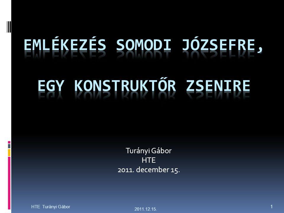 2011.12.15. HTE Turányi Gábor 1 Turányi Gábor HTE 2011. december 15.
