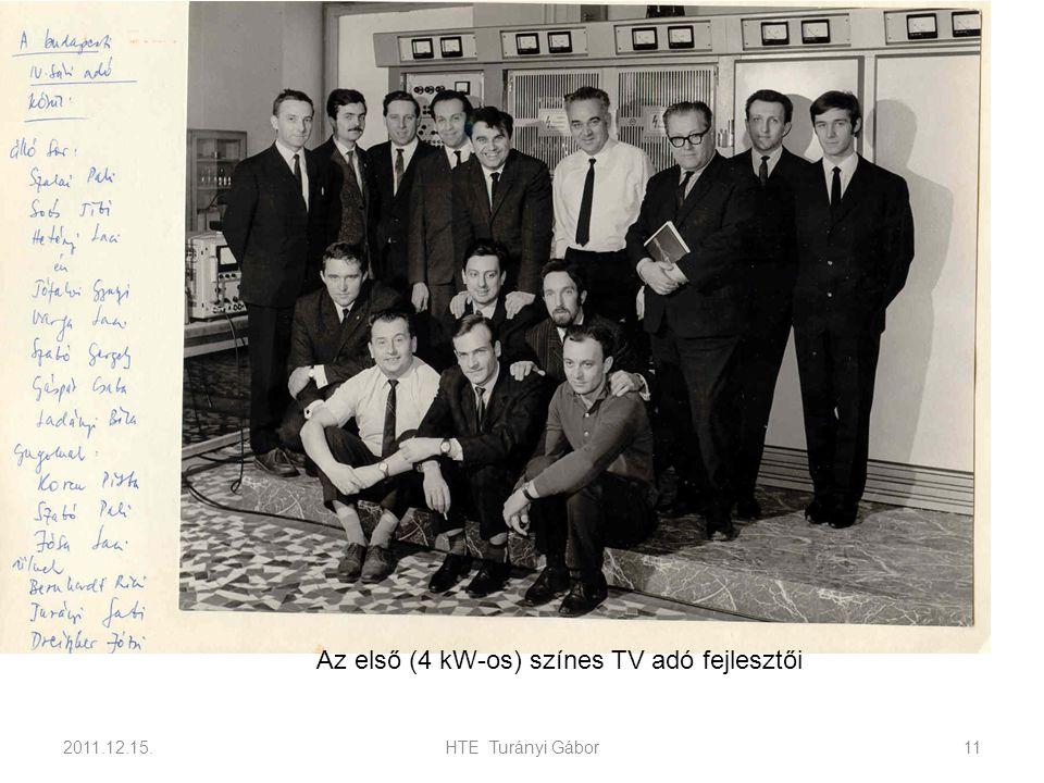 2011.12.15.HTE Turányi Gábor11 Az első (4 kW-os) színes TV adó fejlesztői