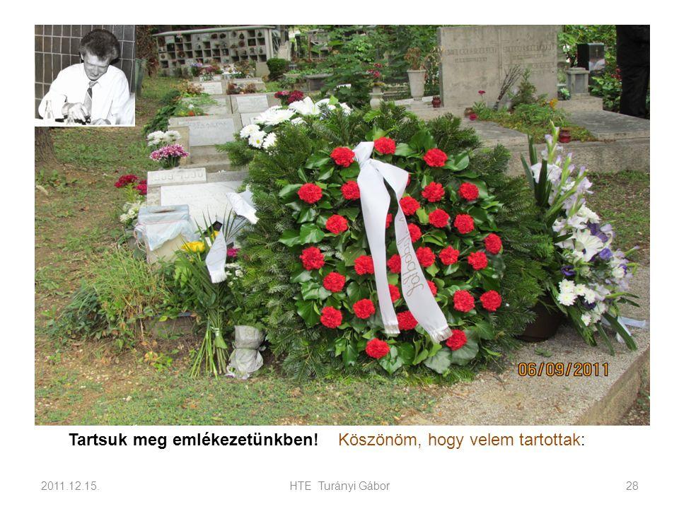 2011.12.15.HTE Turányi Gábor28 Tartsuk meg emlékezetünkben! Köszönöm, hogy velem tartottak: