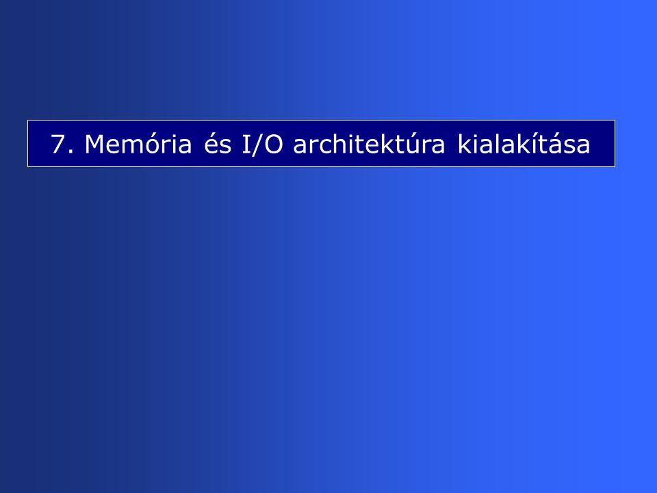 7. Memória és I/O architektúra kialakítása
