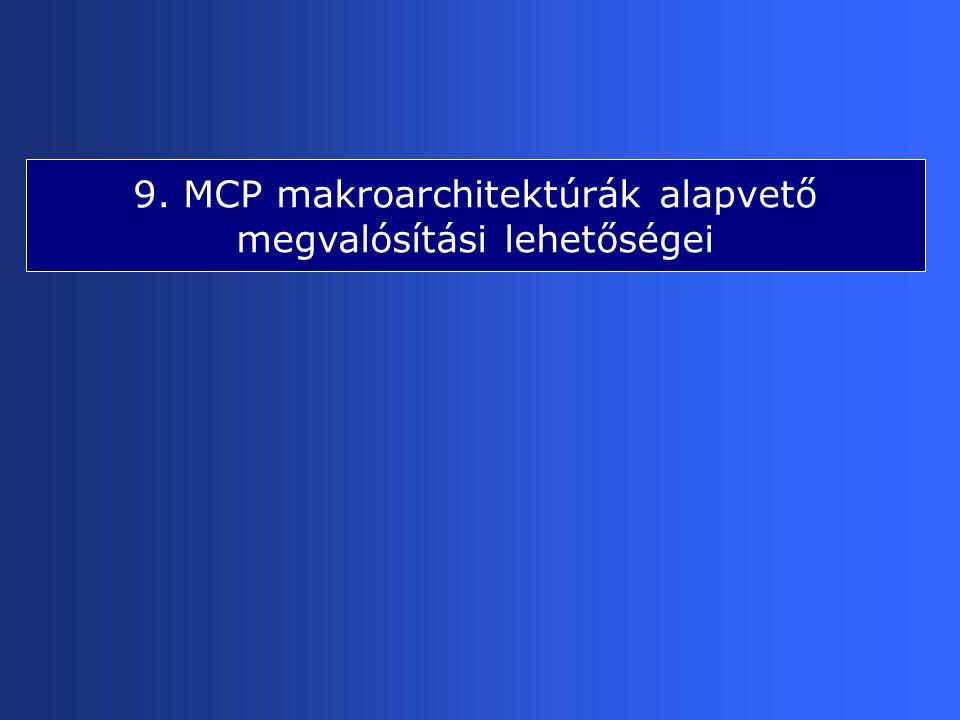 9. MCP makroarchitektúrák alapvető megvalósítási lehetőségei