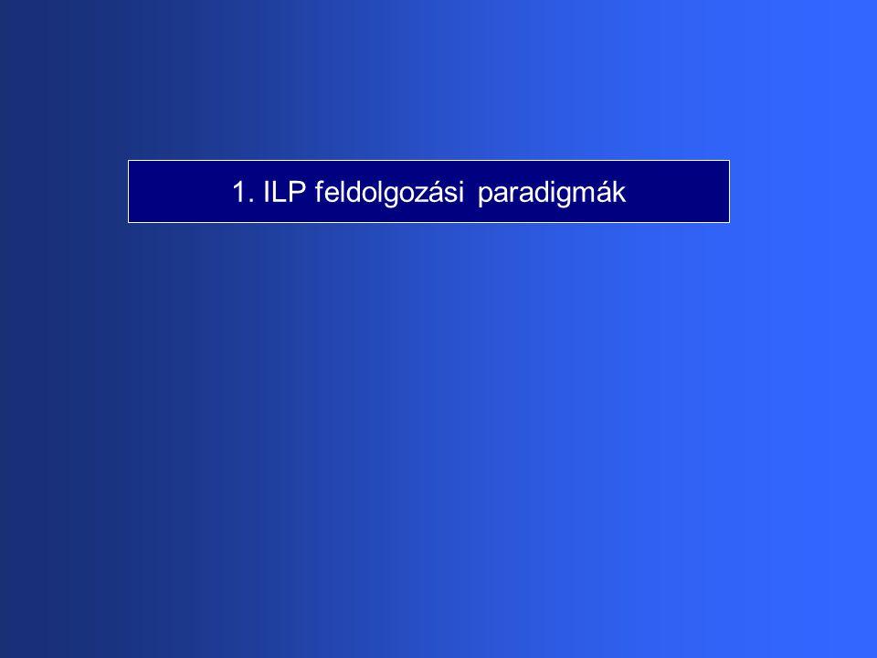 1. ILP feldolgozási paradigmák