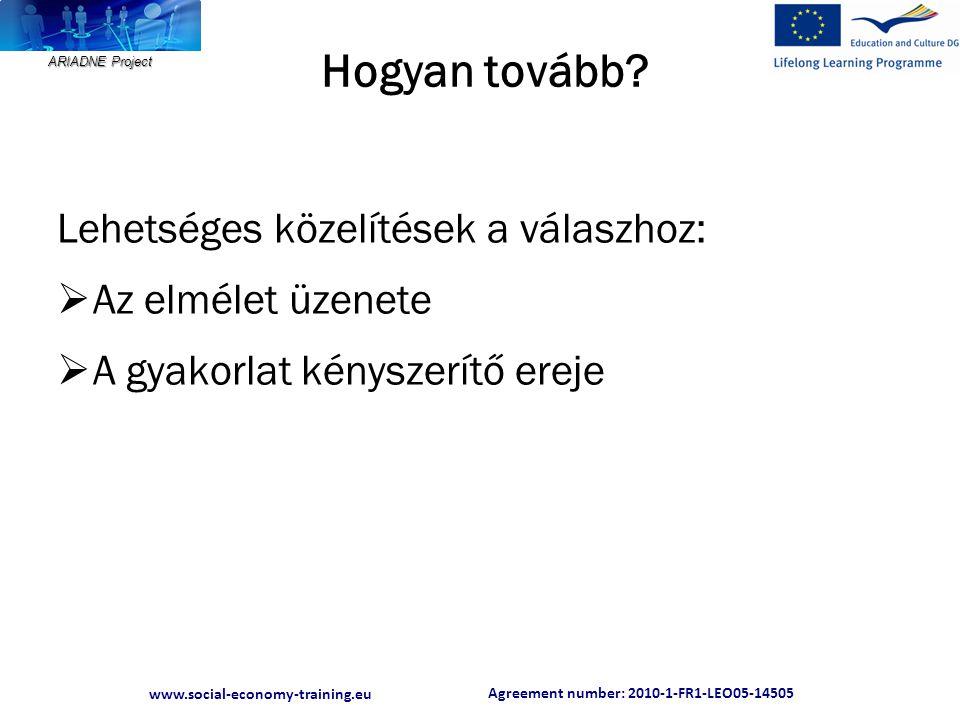 Agreement number: 2010-1-FR1-LEO05-14505 www.social-economy-training.eu ARIADNE Project Mit mond az elmélet.