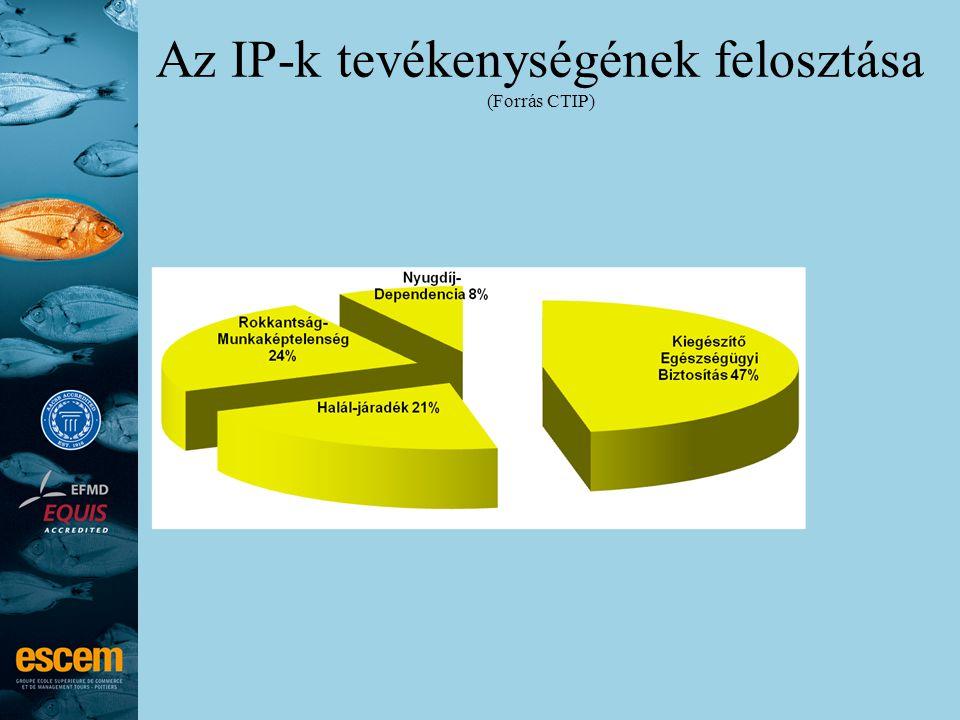 Az IP-k tevékenységének felosztása (Forrás CTIP)