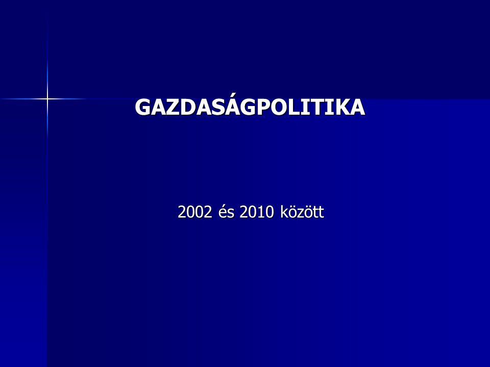 GAZDASÁGPOLITIKA 2002 és 2010 között