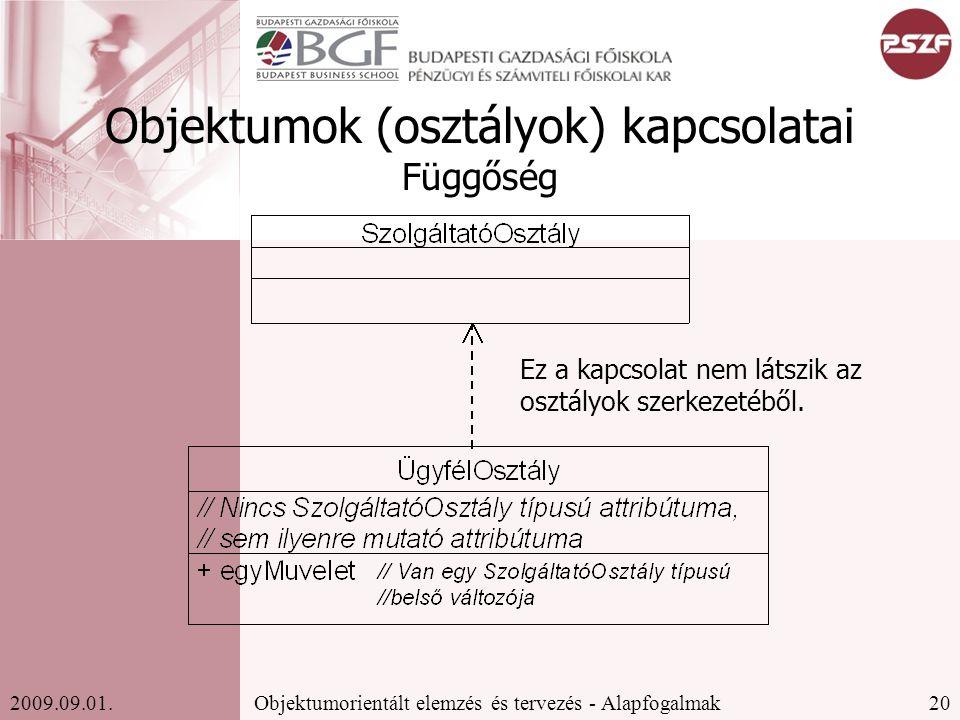 20Objektumorientált elemzés és tervezés - Alapfogalmak2009.09.01.