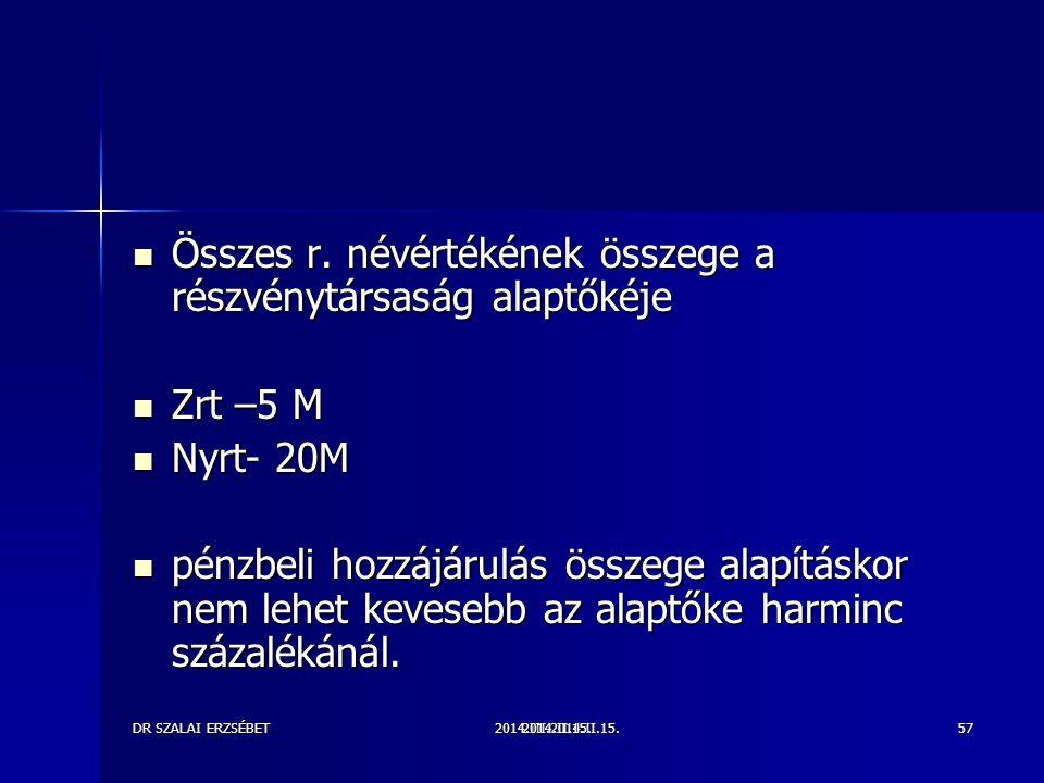 2014.III.2014.II.15.DR SZALAI ERZSÉBET2014.II.15.57 Összes r.