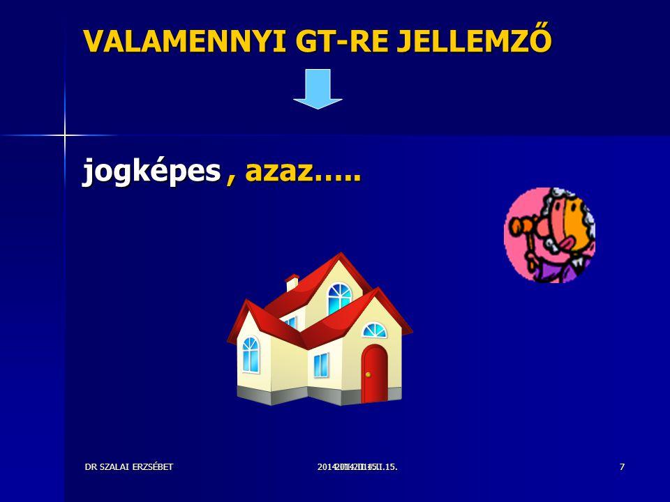 2014.III.2014.II.15.DR SZALAI ERZSÉBET2014.II.15.7 VALAMENNYI GT-RE JELLEMZŐ jogképes, azaz…..