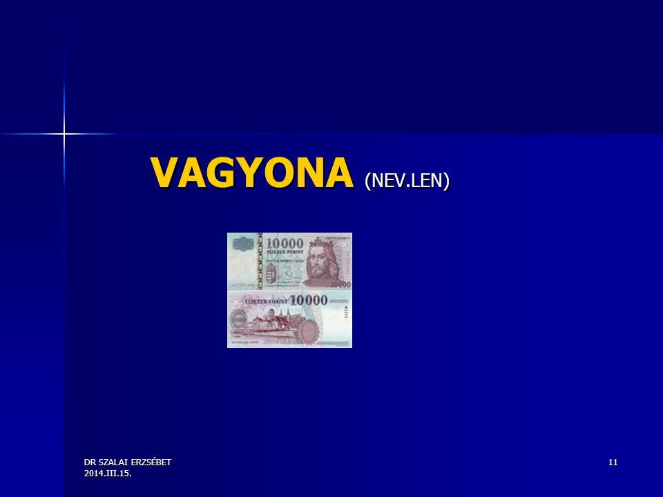 DR SZALAI ERZSÉBET 2014.III.15. 11 VAGYONA (NEV.LEN)