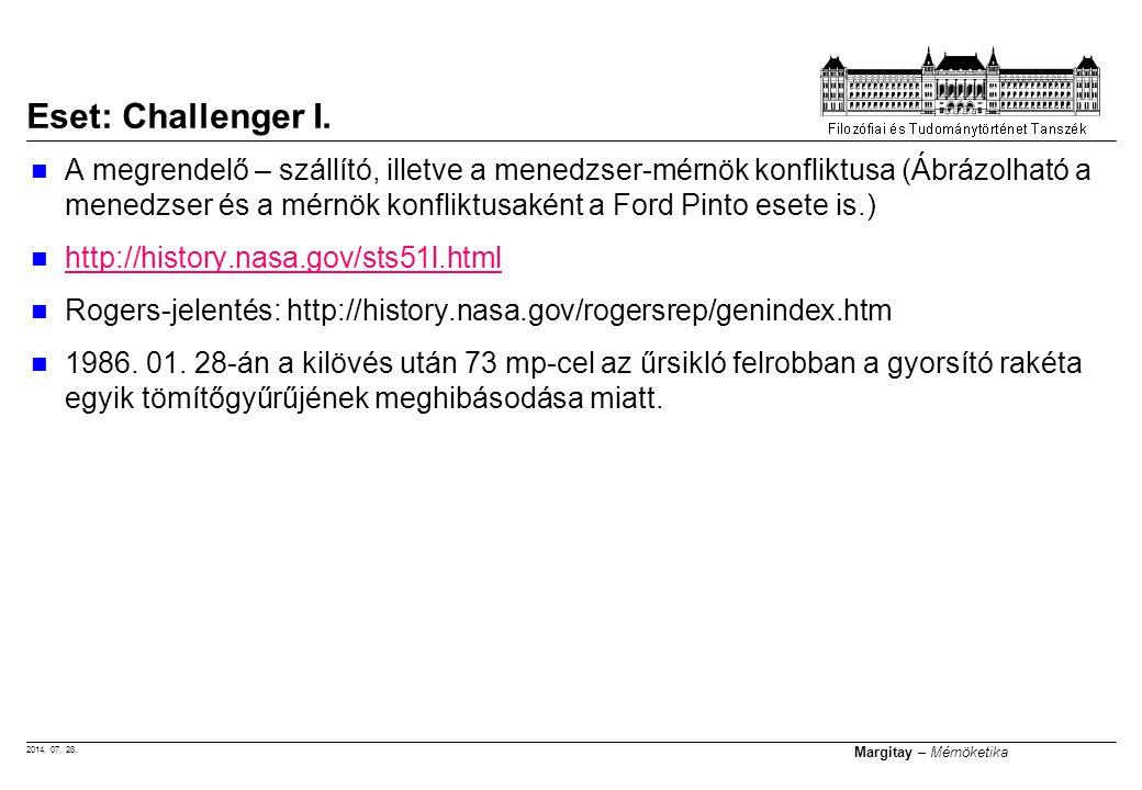 2014. 07. 28. Margitay – Mérnöketika A megrendelő – szállító, illetve a menedzser-mérnök konfliktusa (Ábrázolható a menedzser és a mérnök konfliktusak