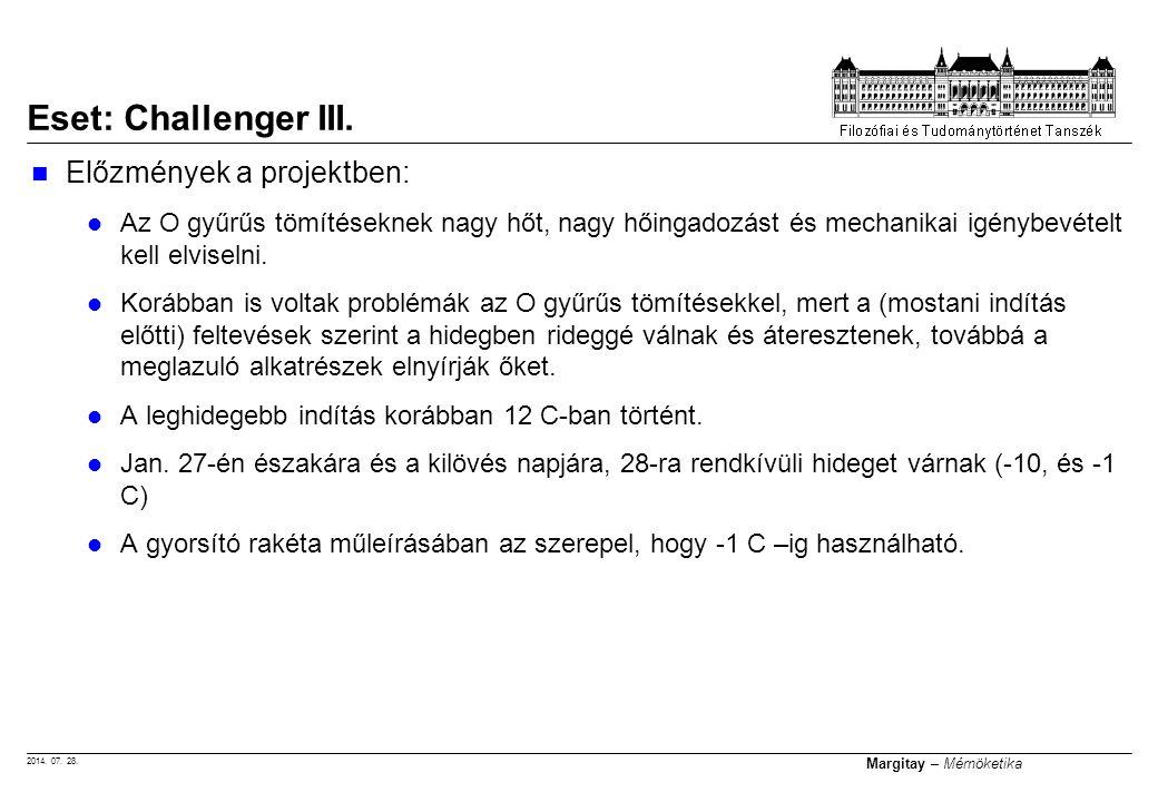 2014. 07. 28. Margitay – Mérnöketika Előzmények a projektben: Az O gyűrűs tömítéseknek nagy hőt, nagy hőingadozást és mechanikai igénybevételt kell el