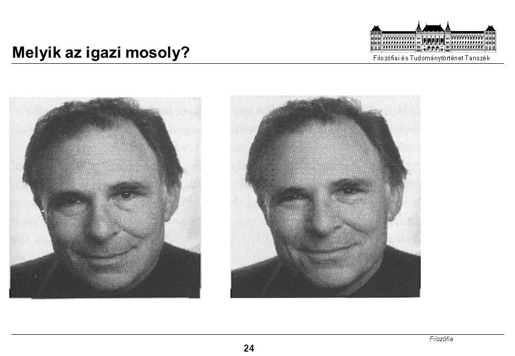 Filozófia 24 Melyik az igazi mosoly?
