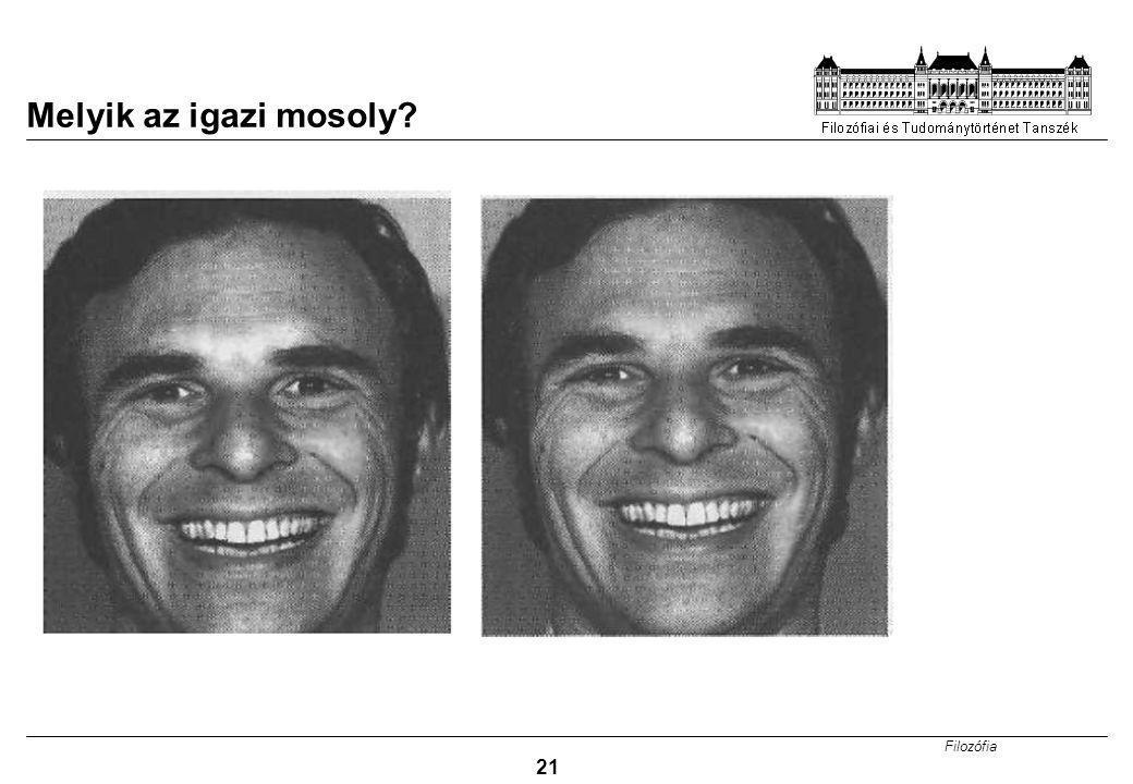 Filozófia 21 Melyik az igazi mosoly?