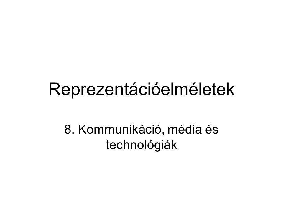 Reprezentációelméletek 8. Kommunikáció, média és technológiák