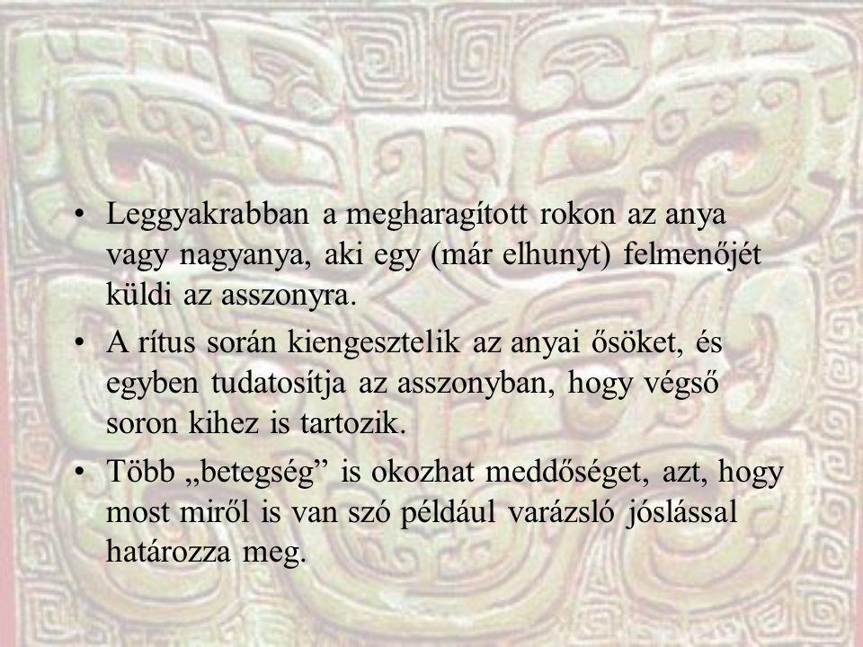 A rítus (betegség) közössége A rítust viszont nem varázsló (vagy pap, vagy sámán) vezényli le.