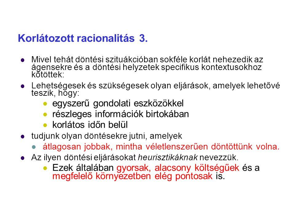 Korlátozott racionalitás 3.