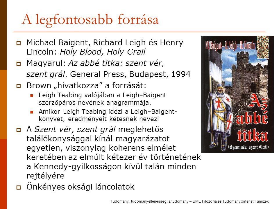 A legfontosabb forrása  Michael Baigent, Richard Leigh és Henry Lincoln: Holy Blood, Holy Grail  Magyarul: Az abbé titka: szent vér, szent grál. Gen