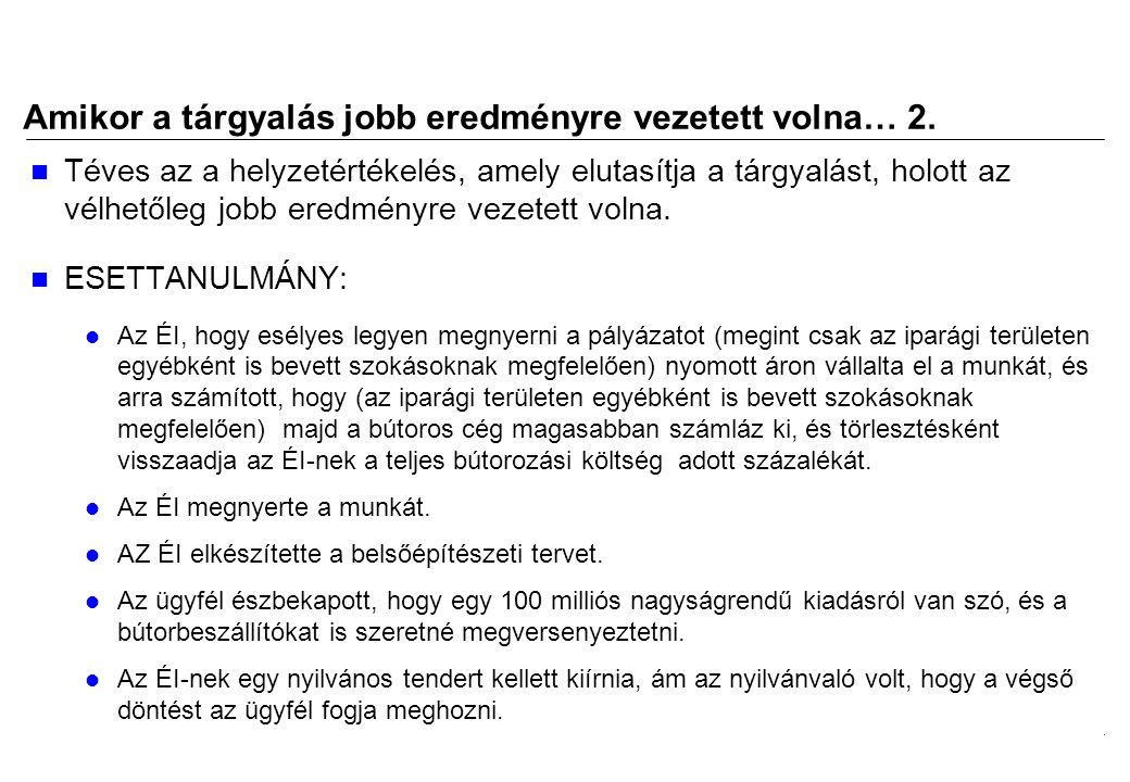 2008.02.05.Tárgyalástechnika 7 Amikor a tárgyalás jobb eredményre vezetett volna… 3.