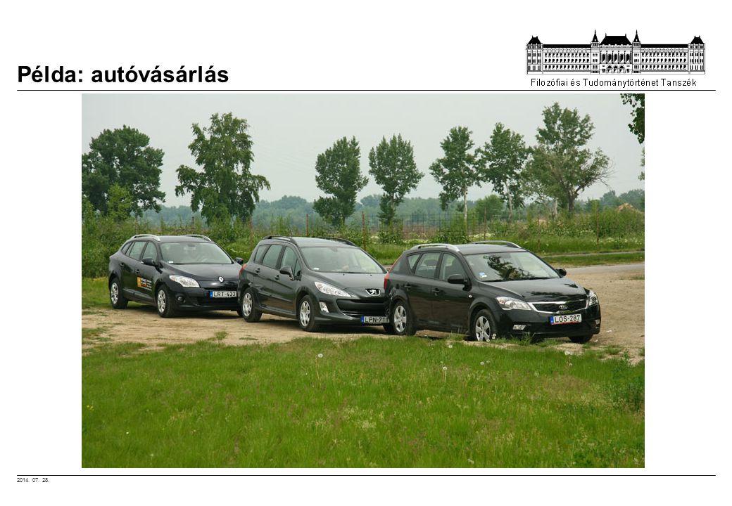 2014. 07. 28. Példa: autóvásárlás