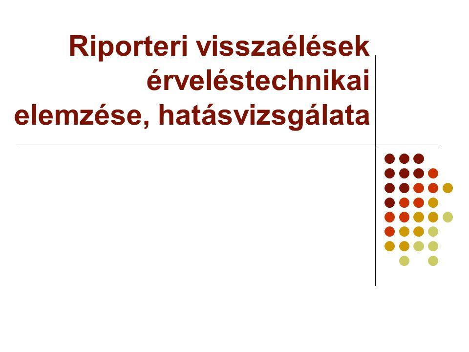 Riporteri visszaélések érveléstechnikai elemzése, hatásvizsgálata