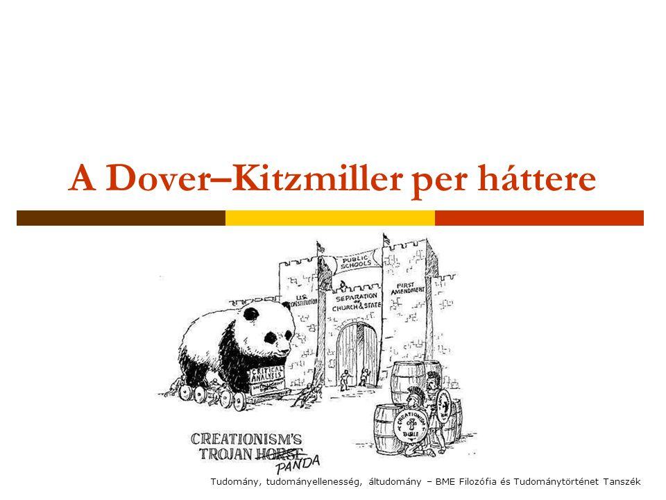 A Dover–Kitzmiller per háttere Tudomány, tudományellenesség, áltudomány – BME Filozófia és Tudománytörténet Tanszék