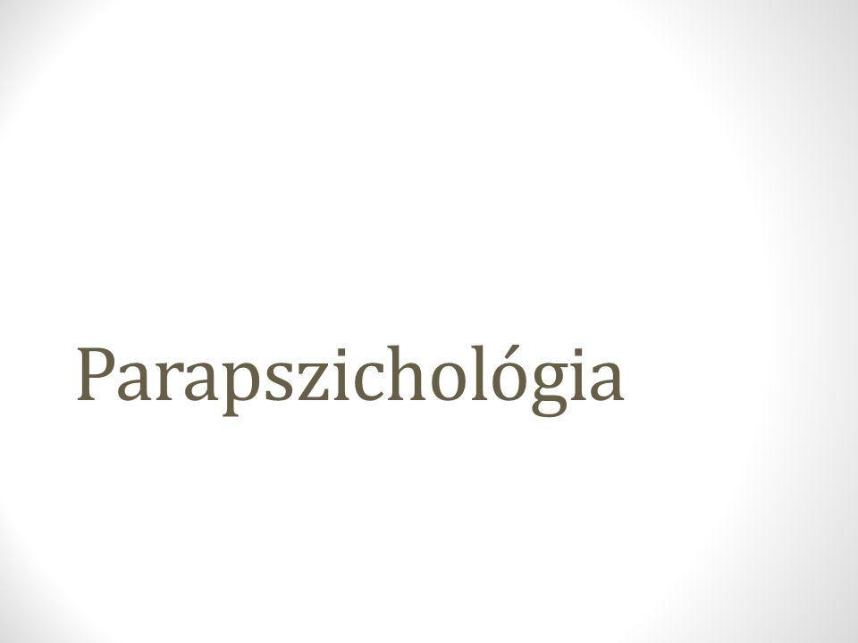 Mi a parapszichológia.