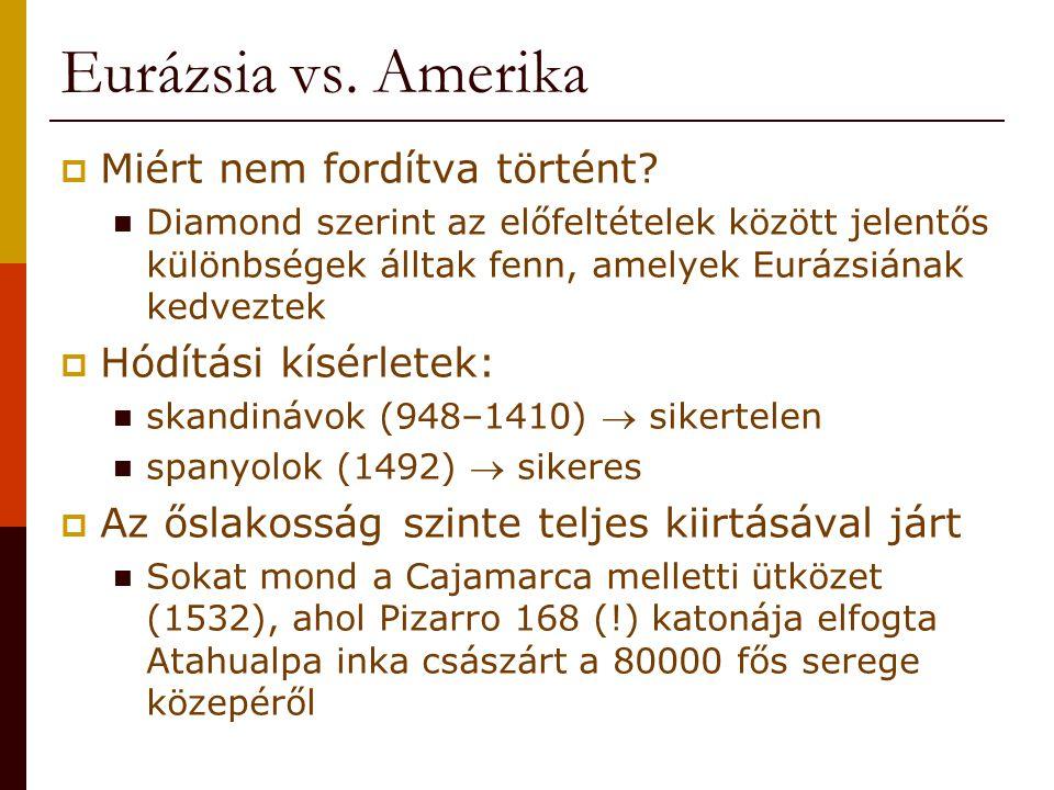 Eurázsia vs. Amerika  Miért nem fordítva történt.